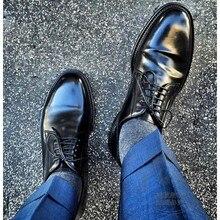Handgemachte Lederschuhe Weinrot Prom Luxus Marke Schuhe Vollnarbenleder Voll Verzierten Chef Männer Kleid Schuhe Italienische Erweiterte