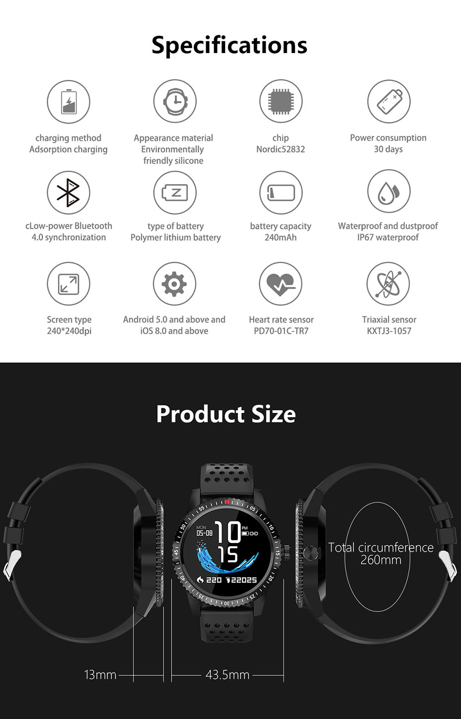 COLMI Smartwatch IP67 Waterproof Wearable Device Heart Rate Monitor Color Display Smart Watch For Android IOS_15