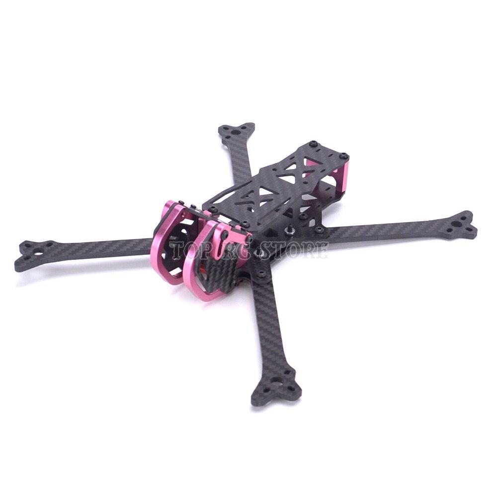 Oyuncaklar ve Hobi Ürünleri'ten Parçalar ve Aksesuarlar'de Kurbağa 255 255mm 6 inç gerçek X 4mm arms alüminyum parçalar FPV Yarış Freestyle drone iskeleti/XPW PDB beteter Leopar LX6'da  Grup 2