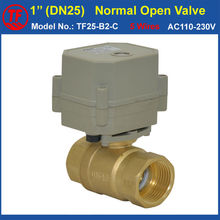 5 Wires Normal Open Valve With Signal Feedback AC110V-230V Brass 2 Way NPT/BSP 1″ DN25 Electric Shut Off Valve Metal Gear