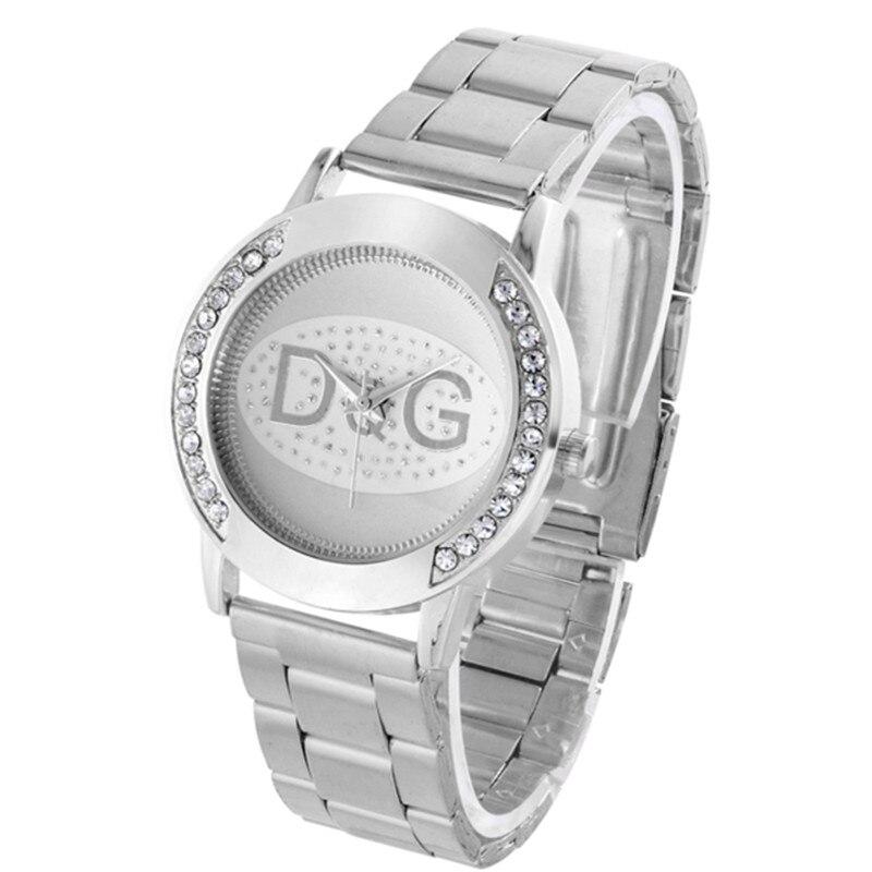 Zegarki Damskie Luxury brands DQG Women Crystal Silver stain