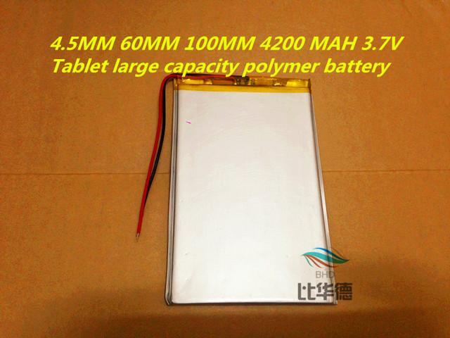 New 4560100 3.7v 4200mah tablet battery Polymer battery 3.7V elf cube U25GT , Onda 7 Inch / DVD polymer battery Rechargeable bat
