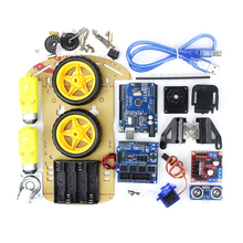 Smart Robot Motor Car Chassis Kit Avoidance Tracking Speed Encoder Battery Box 2WD Ultrasonic Module for arduino Diy Kit