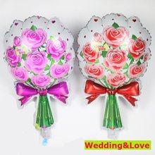 2pc decoração de capina para casamentos balões de folha rosa babyshower balão feliz aniversário decorações da festa crianças presentes da mãe