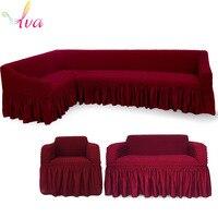 LVA Прочные эластичные покрывало для дивана все включено 1 сиденье/2 сиденье/L Форма защита для дивана Обложка 100% полиэстер диван Полотенца
