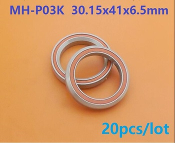 20pcs MH-P03K 30.15x41x6.5 mm rubber seal deep groove ball bearing for bicycle bottom bracket bearing 30.15*41*6.5