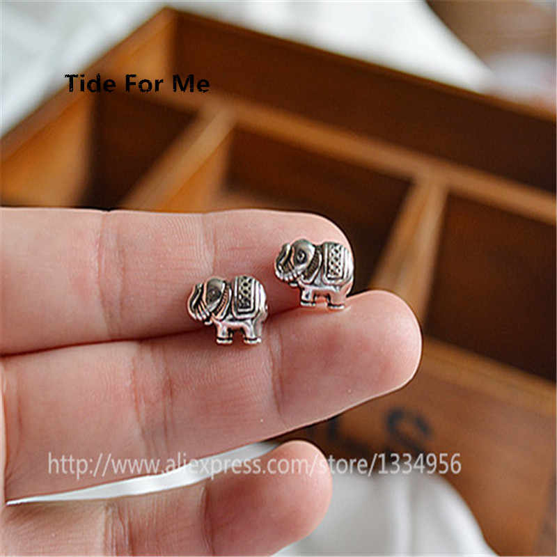 10pcs/lot Wholesale 2017 Charms Cute Animal Elephant Metal Beads Spacer Beads Antique Zinc Alloy Beads for jewelry Making DIY