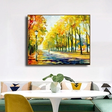 Autumn Forest Famous Oil Canvas Painting Calligraphy Posters and Prints For Living Room Bedroom Wall Pictures Home Art Decor