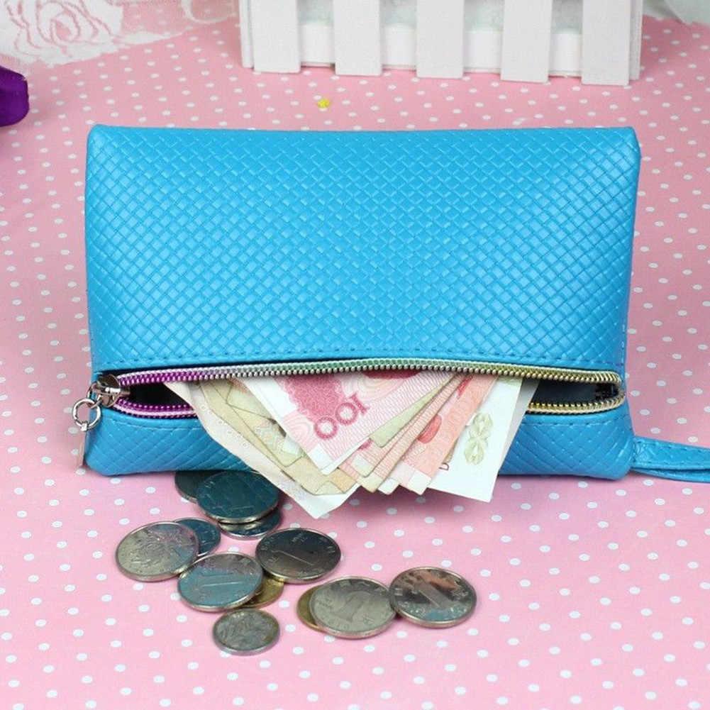 Kobiety mężczyźni długo portfel portmonetki jednolity, na zamek PU skórzane małe telefon zmień torba posiadacz karty męska kopertówka wąski portfel Carteira