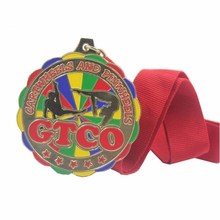 Factory Price Metal Gymnastics Medal with Ribbon cheap custom sports medals with ribbons original cheap 86203 premium black monochrome ribbon use with dtc550 card printers k 3 000 prints