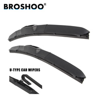 BROSHOO Car Windscreen Wipers Blade For Peugeot 807 (2002 2010),26+26inch 1Pair Soft Rubber Wiper Blades Auto Accessories