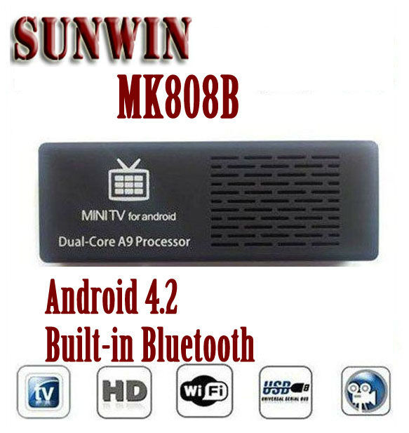 Original MK808 Bluetooth MK808B RK3066 Dual Core Andriod TV Box 1GB RAM 8GB ROM Mini PC Dongle HDMI WIFI Android TV Stick