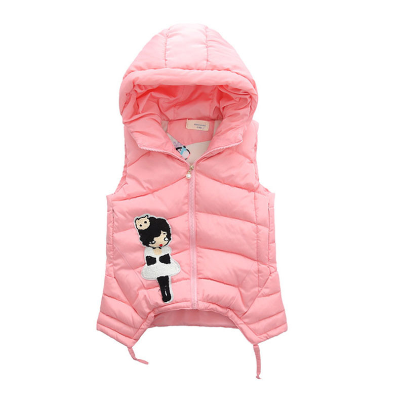 Image 2 - Child Waistcoat Children Outerwear Winter Coats Vest for Girls Kids Clothes Fashion Warm Cotton Teen Girl Vest Jacket 5 12Y-in Vests from Mother & Kids