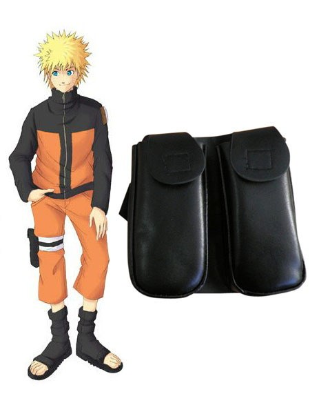 Naruto Weapon Kunai Leg Bag +White Waist Shuriken Pack