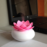 Mini Humidifier USB Office Lotus Shape Air Humidifier Light Mini USB Home Air Humidifier Negative Lon
