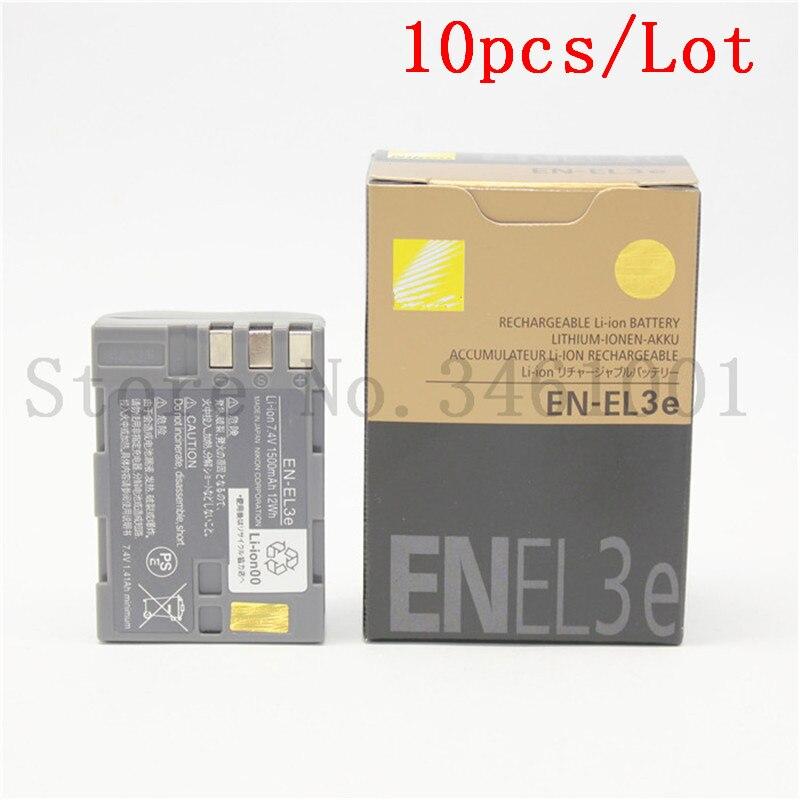 10pcs lot EN EL3e batteries EN EL3a EN EL3e EL3a ENEL3e Camera Battery for Original Nikon