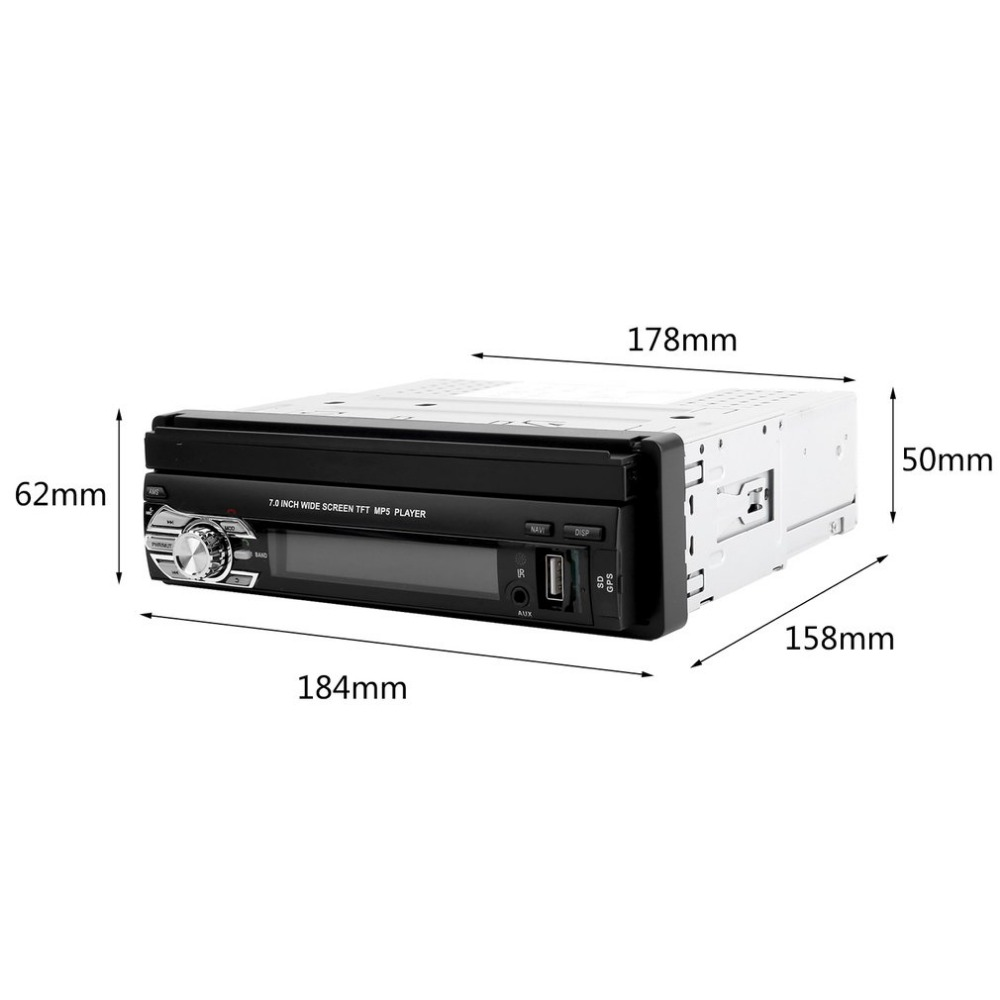 Factory Price 7in TFT Touch Screen HD Car DVD player Stereo Radio Tuner Audio GPS Memory Navigator Bluetooth Automotion 1 Din