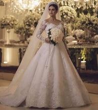 New High Quality Wedding Dress with Sleeves Bridal Gown Dresses For Bride Superbweddingdress