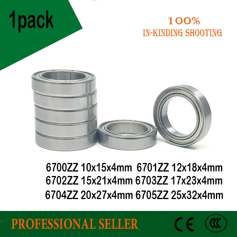 10pcs 6700ZZ Bearing 6701ZZ 6702ZZ 6703ZZ 6704ZZ 6705ZZ Ultra Thin Wall Metal Shielded  Ball BearingS