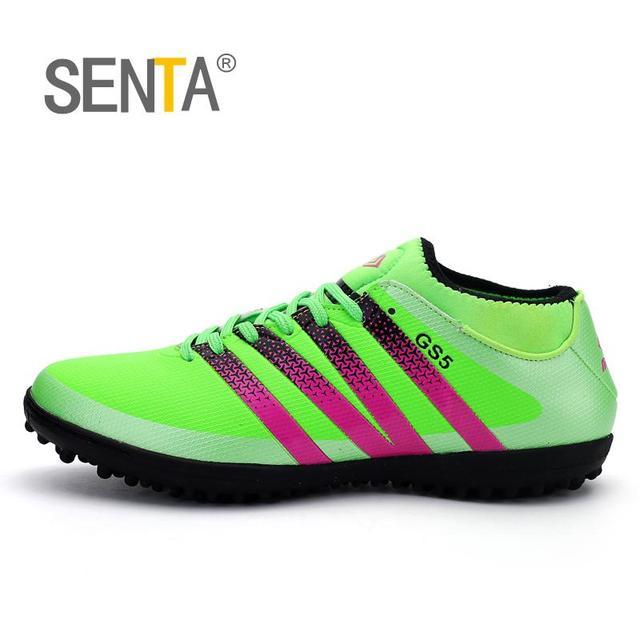 bcbd364e1db72 سنتا جديد الرجال لكرة القدم الأحذية منخفضة الكاحل Superfly أحذية كرة القدم  الاطفال الأصلي ذهبي لامع