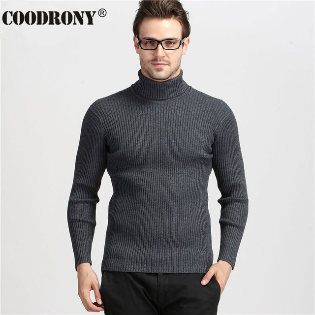 Winter Thick Warm Cashmere Turtleneck Men's Sweaters  2