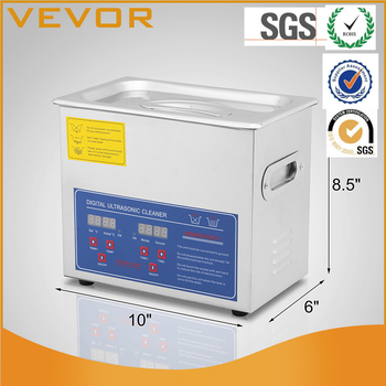 VEVOR Factory New 6L Ultrasonic Cleaner Stainless Industry Heater with Timer