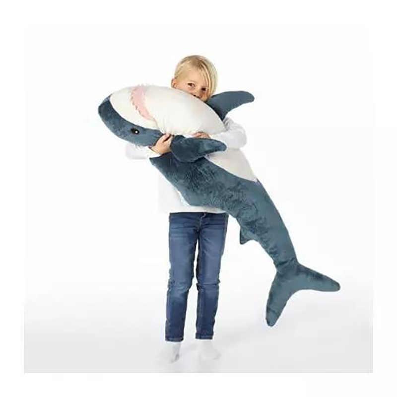 80 cm/100 cm Tamanho Grande Mordida de Tubarão Macio Pillow Plush Stuffed Toy Crianças Crianças Dormindo Almofada de Volta de Leitura travesseiro Presentes De Aniversário