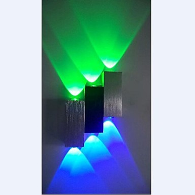 382a62c9c6 6W Modern Aluminium Led Wall lamp Light with Scattering Light Sci-fi Design  90-240V Green Blue