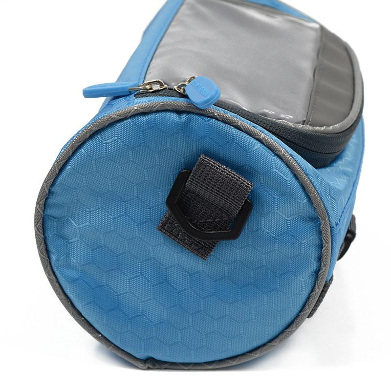 Wodoodporny Ekran Dotykowy Sakwy Rowerowe Rower Górski Rower Torby Phone Bag Case Rower Szosowy Rura Przednia Kierownica Torba Cylindra 22