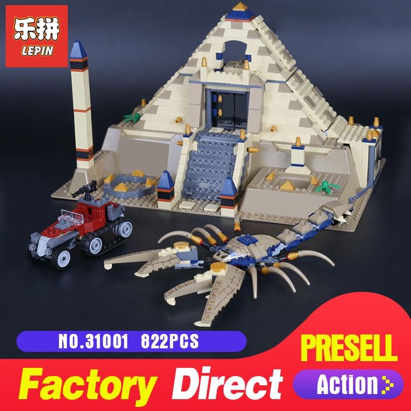 Lepin 31001 Egypt Pharaoh Series 822Pcs The Scorpion Pyramid Building Blocks Bricks Toys Children Educational Model Gifts 7327 eglo 31001