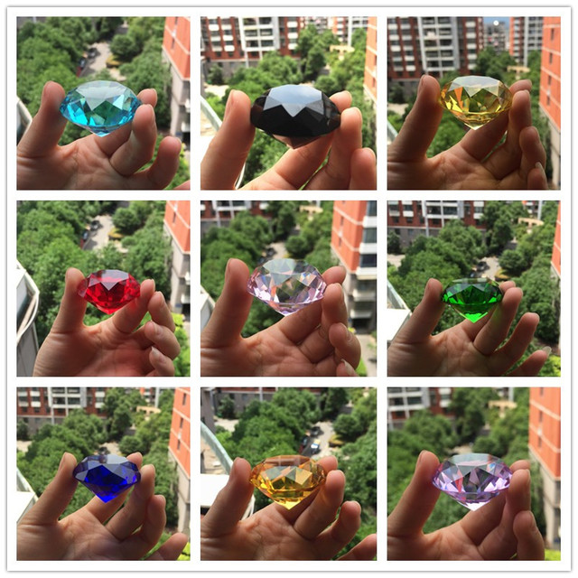30mm Crystal glass Diamond Home Decor  ornaments FengShui Ornaments Decorative Ball For wedding miniatures Accessories Gifts 4