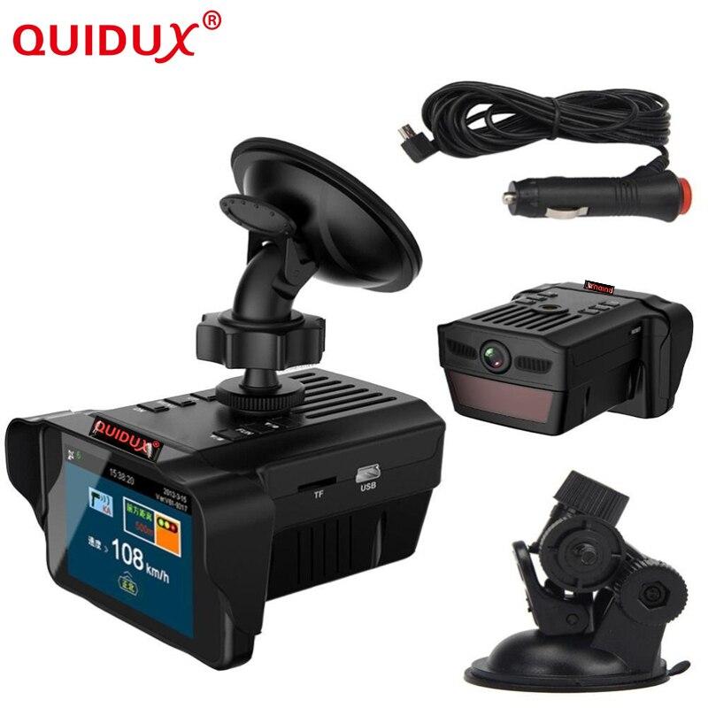 QUIDUX H588 speed Car DVR font b Camera b font Radar Detector Speed Radar combo 2