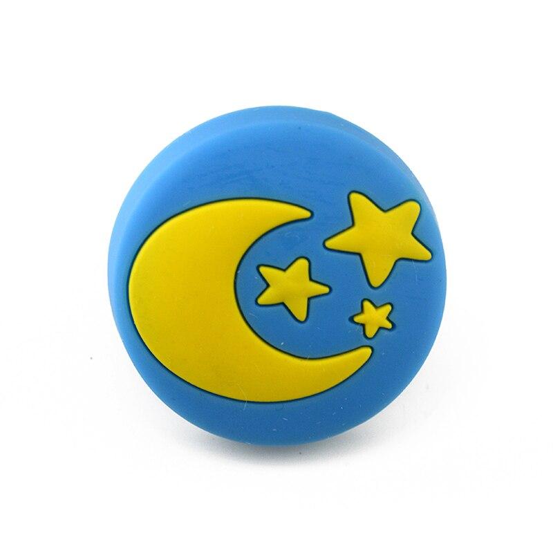 MEGAIRON Lovely Cute Blue Moon Shape Children Boys Girls Bedroom Cabinet Drawer Dresser Knobs Pull Handle With Screws