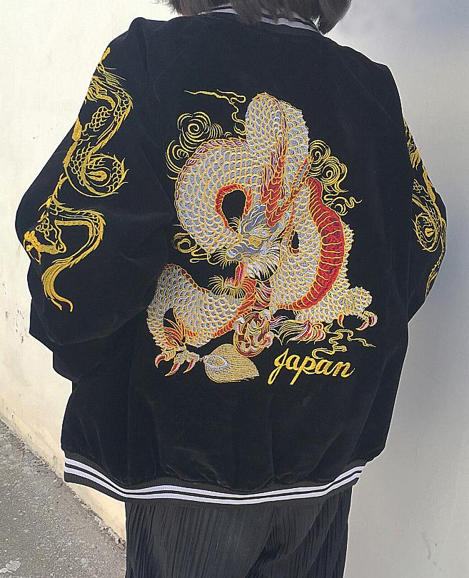 2018 new spring dragon embroidery jacket