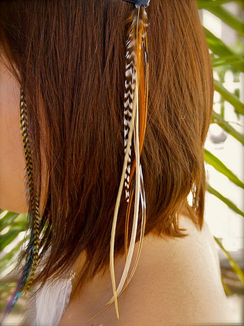 Free Shipping Grizzly Natural Rooster Feathers Real Hair