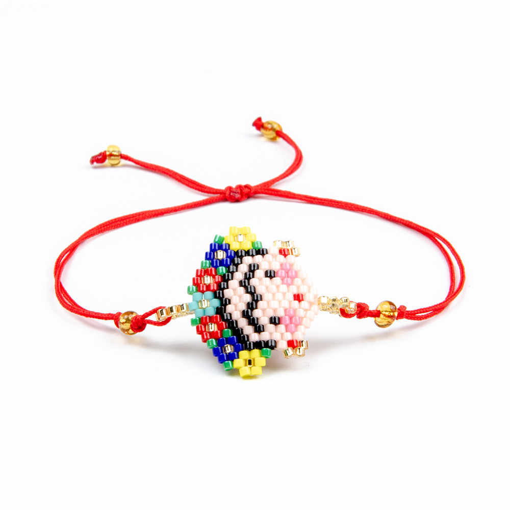 New Arrival Design Boho Cartoon Bracelets for Women Ethnic Fashion Handmade Seed Jewelry Delica Beads Woven Gift Wholesale