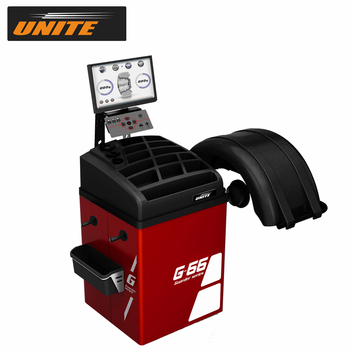 "UNITE Car Wheel Balancer G-66 Pro Line 17"" LCD Monitor 3D Animation Interface Multi-Language Support"