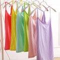10pcswomen summer cotton top tanks camis 2015 brand loose solid color camis  top tank vest top quality wholesale half vest17