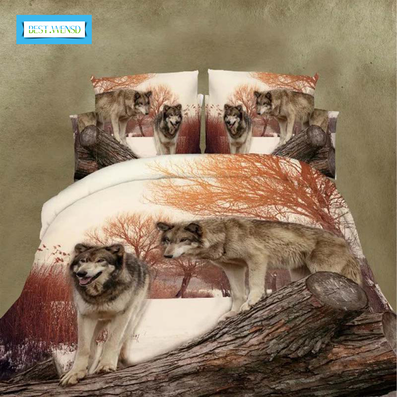 BEST.WENSD Animal Bedding Set Home Textiles 4pcs Family Set Include Bed Sheet Duvet Cover Pillowcase 3d Housse De Couette BEST.WENSD Animal Bedding Set Home Textiles 4pcs Family Set Include Bed Sheet Duvet Cover Pillowcase 3d Housse De Couette