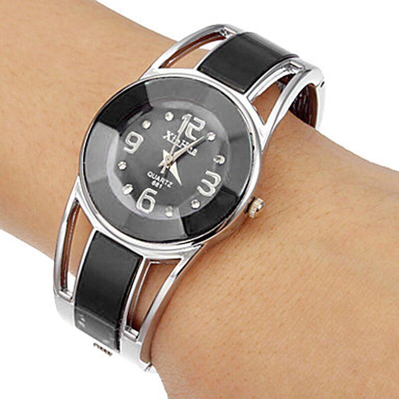 Women watch XINHUA stainless steel quartz watches fashion bangle elegant hot sale major wristwatch blue white