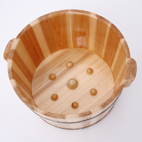 Fragrance Pine Cask Foot tub Tub with cover Foot tub Thicken foot barrel Massage Foot bath barrel