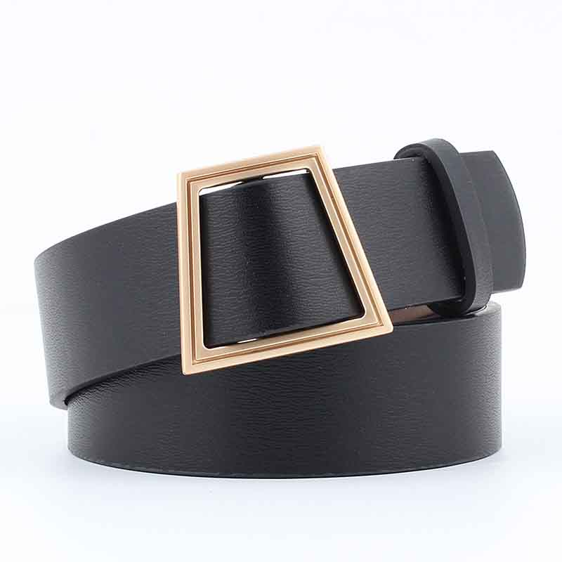 New Women's Needle-free Belt Wild Fashion Jeans With Women Wide Korean Version Of The Smooth Buckle Belt