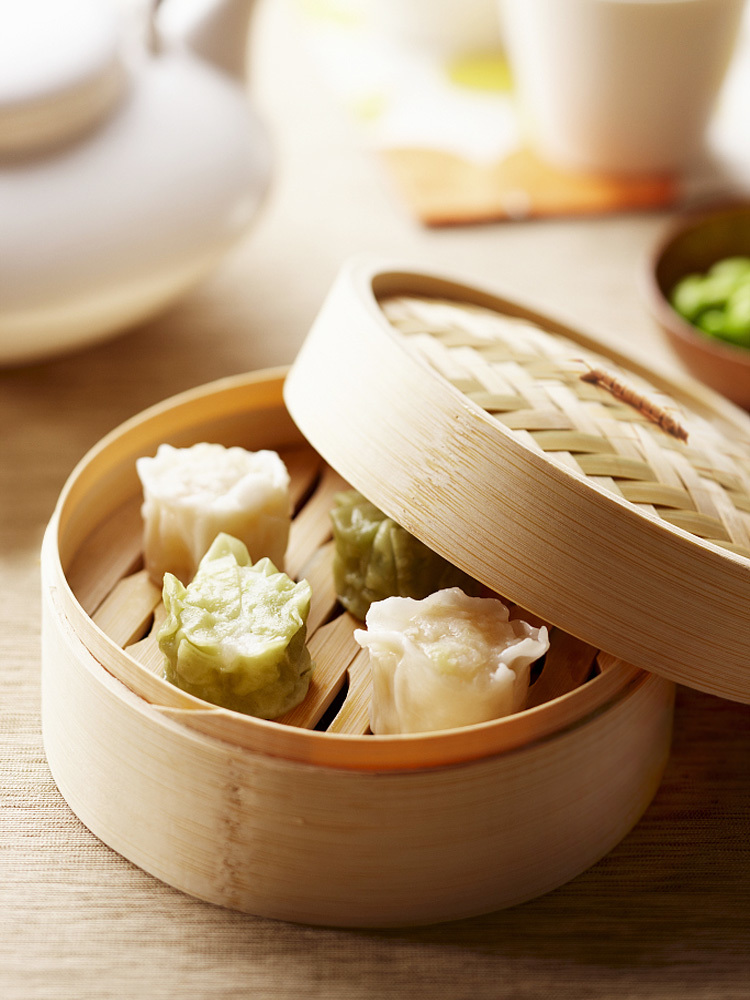 Mini Steamer Abalone Cage Bamboo Steamered Shrimp Dumpling Cage With Handle Small Drawer Hong Kong Style Restaurant Snack