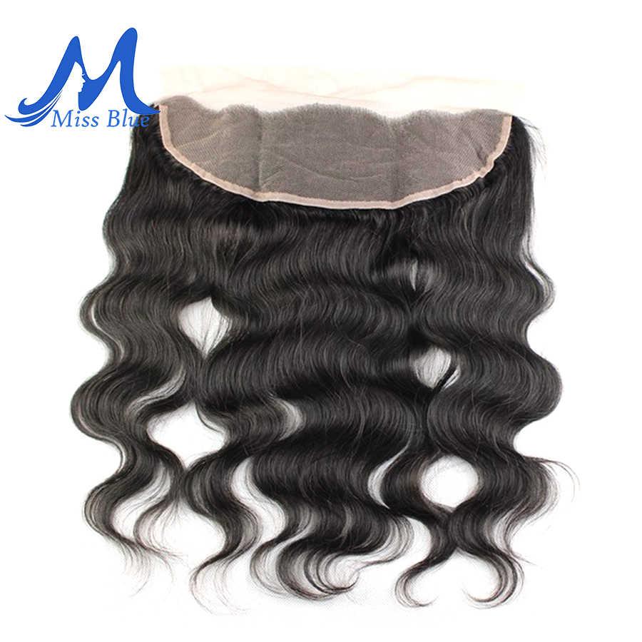 Missblue virgen brasileño de la onda del cuerpo paquetes de cabello humano con cierre 32 36 38 40 pulgadas 3 paquete con 13x4 transparente Frontal de encaje