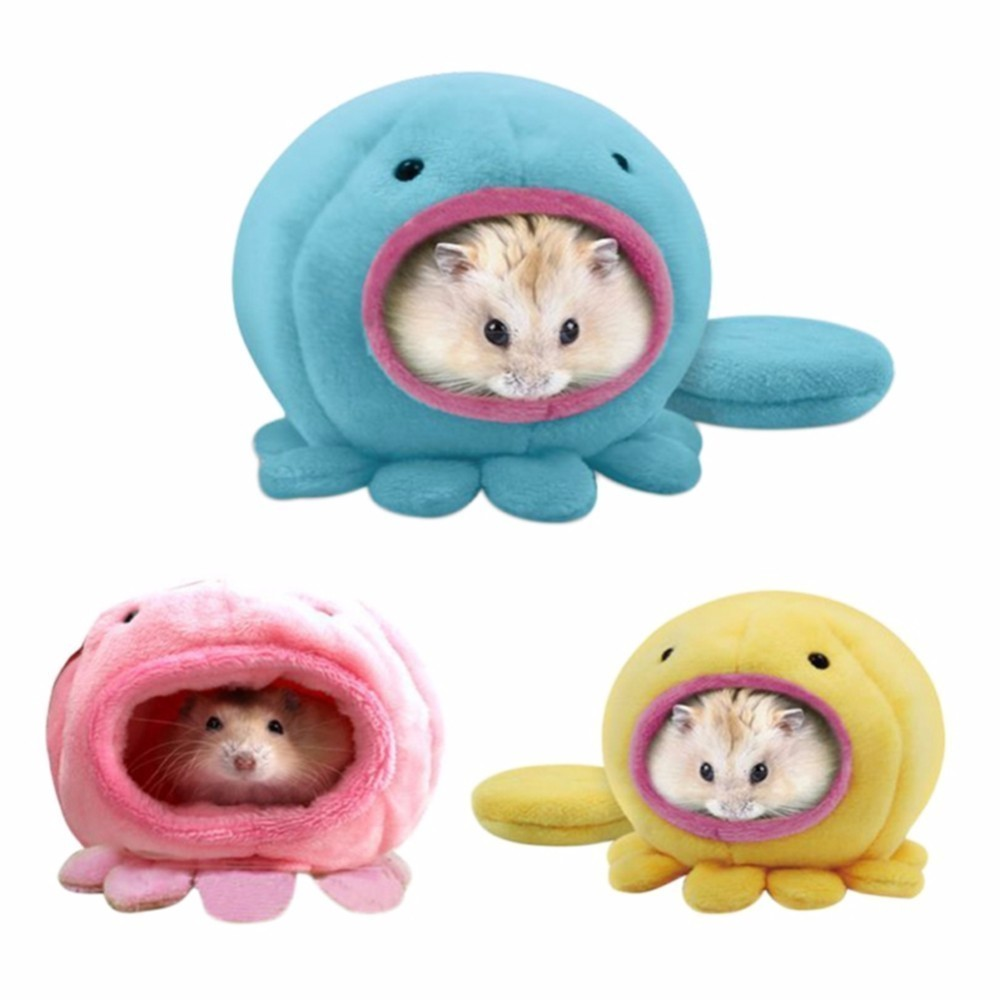 Hamster Parrot Bird Pet Hammock Hanging Bed Warm Plush Cave 2-layer Cage Nest New Cleaning The Oral Cavity. Bird Supplies