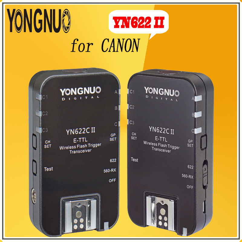 YONGNUO YN622C II YN-622-C Wireless ETTL Flash Trigger Transmitter YN622C II with High-speed Sync HSS 1/8000s for Canon camera yongnuo 3x yn 600ex rt ii 2 4g wireless hss 1 8000s master flash speedlite yn e3 rt flash trigger for canon eos camera 5d 6d