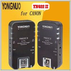 YONGNUO YN622C II YN-622-C Wireless ETTL Flash Trigger Transmitter YN622C II with High-speed Sync HSS 1/8000s for Canon camera