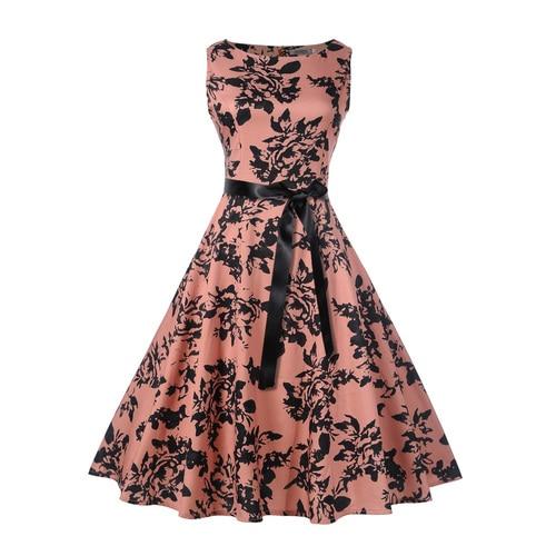 Casual cotton sleeveless dress women's summer 2019 sexy print  dress EU elegant robes women's clothing