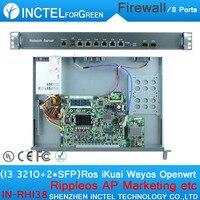 Internet yönlendirici ROS 8 Gigabit akış kontrolü donanım güvenlik duvarı ile fiyat I3 3210 CPU Intel 1000 M 6 82583 V 2 Gigabit 82580DB fiber