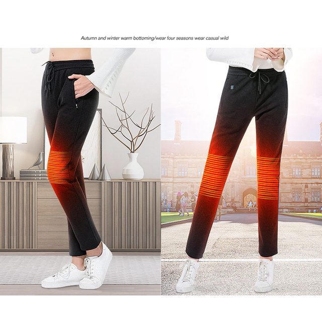 2019 USB Heated Pants Women Heating Pants Sports Outdoor Hiking Skiing Winter Smart Fever Cotton Trousers Climbing 5